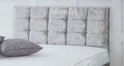 Beautiful Crushed Velvet Headboard With Diamante All Sizes And Colours Available