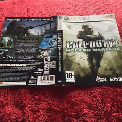 Artwork For call of duty 4 modern warfare xbox 360  NO GAME DISC INCLUDED