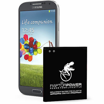 RaptorPower Replacement Battery for Samsung Galaxy S4 i9500 i9505 B600BC 2600mAh