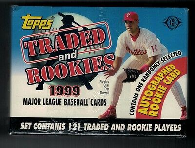 1999 Topps Complete BASEBALL Card Traded Factory Sealed Box SET Rookie Autograph