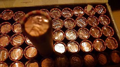 2012 P Lincoln Union Shield Penny 50 Cent Roll from box 1c  BU MS Mint UNC