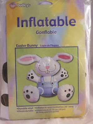 "Inflatable Easter Bunny 30"" Long"