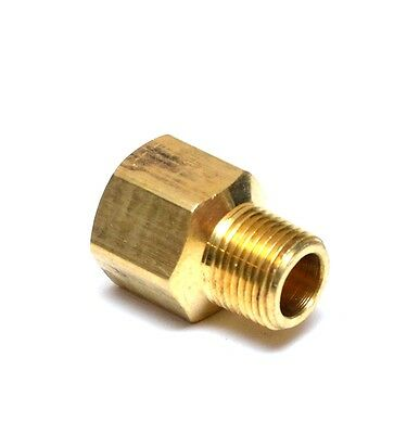 """Pipe Adapter Brass 1/2"""" Female NPT  to 3/8"""" Male NPT Water Oil Gas Air Vacuum"""
