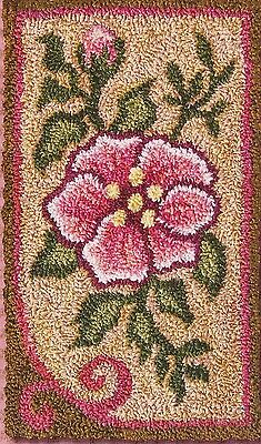 "Punchneedle Pattern by Jeri Kelly ""Rose""  (3"" x 5"")"
