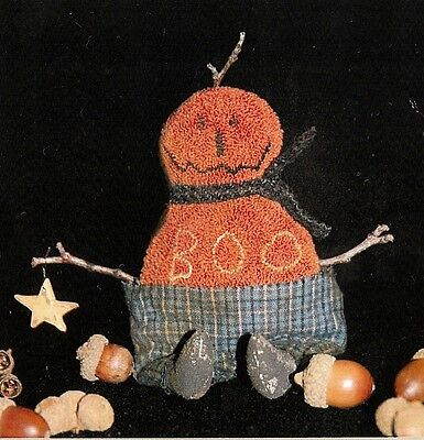 "Punchneedle Pattern by Brenda Gervais (With Thy Needle)  ""Fraidy Jack"" Pumpkin"