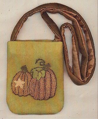 "Punchneedle Pattern by The Cooperage  ""Pumpkin Purse"""