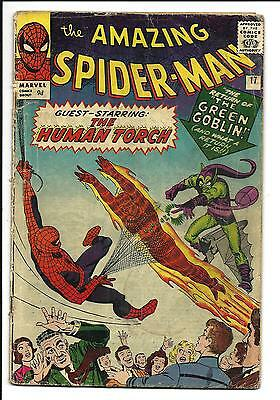 Amazing Spider-Man # 17 (2Nd. Green Goblin, Oct 1964), Vg-