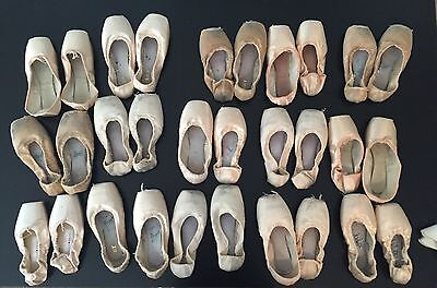 Used Pointe Shoes Worn By A Professional Ballet Dancer