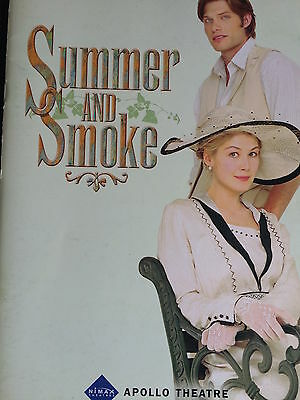 SUMMER AND SMOKE -Apollo Theatre, London - Programme - Rosamund Pike