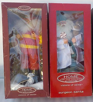 """2 Home for the Holidays Visions of Santa Collection 18"""" Fireman Surgeon Figurine"""