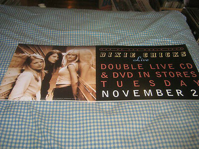 DIXIE CHICKS-(top of the world tour-live)-1 POSTER-10X23-NMINT-RARE