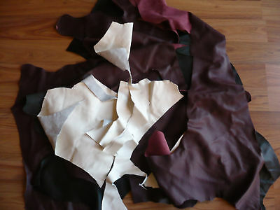 BRAND NEW LEATHER SCRAPS,PIECES OFF CUTS CRAFTS HOBBIES 500gram