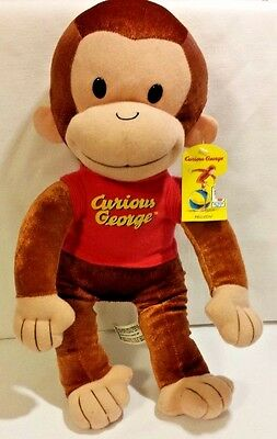 Curious George Stuffed Animal Plush, 14 inches NWT