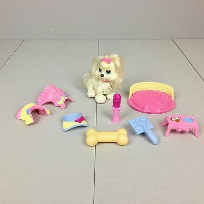 Fisher Price SNAP N STYLE PETS LOT Puppy Dog Ginger Clothes Bed Accessories VGUC