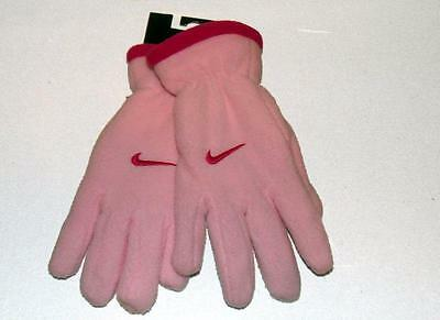 NEW Nike Girls Gloves Pink ~ Youth Fleece Winter