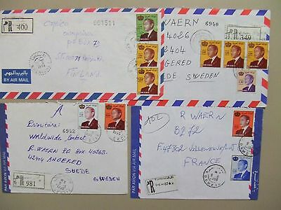 Ten Morocco registered covers with different King Hassan nomination stamps