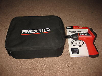 Ridgid SeeSnake Micro Camera Display w/Carrying Case - Missing Lens and Cable