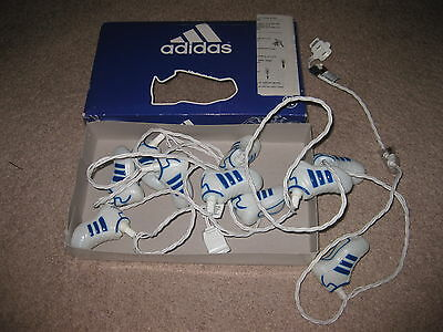 Vtg Rare ADIDAS Shell Toe Shoes STRING LIGHTS of 10 Samba Home Decor Christmas