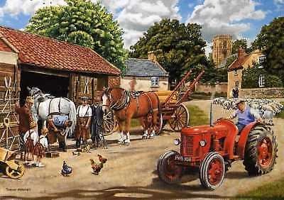 """David Brown Tractor """"passing The Smithy"""" Print By Trevor Mitchell"""