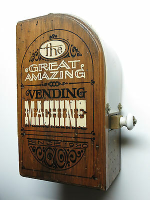 VINTAGE The Great Amazing Vending Machine Wood gum ball machine