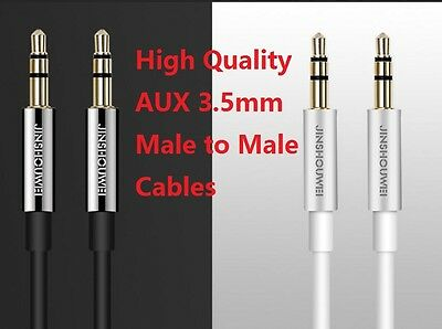 JINSHOUWEI 3.5mm Male To Male Plug Aux Stereo Audio Cable, Phone MP3 Car Music