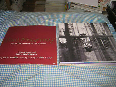 PAUL McCARTNEY-(chaos and creation in the backyard)-1 POSTER FLAT-2 SIDED-12X12