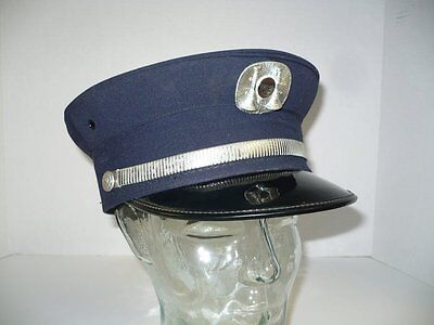 Vintage 1960's WENTWORTH-FORMAN Fire Chief's Hat Cap Erie, PA - Fireman - 6 7/8