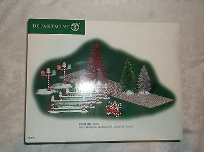 Department 56 Village Accessories 'Wnter Wonderland Landscape Set (Set 10 of 11)