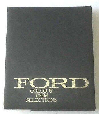 1974 Ford Car And Truck Color And Trim Selections Dealer Album Book F Series
