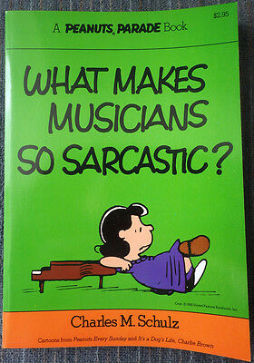 Peanuts Parade #10 - What Makes Musicians So Sarcastic 1st Printing Great Shape!