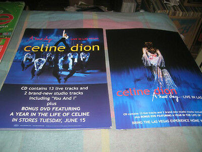 CELINE DION-(a new day-live in las vegas)-1 POSTER FLAT-2 SIDED-12X18-NMINT-RARE