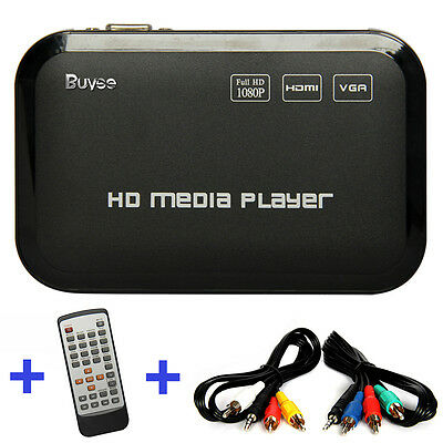 Full HD 1080P HDMI Media Player Center TV HDD SD USB MP4 RM RMVB MPEG AVI UK New