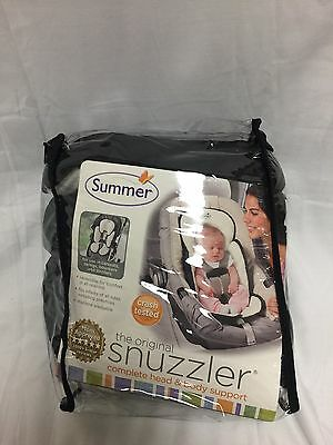 Infant Head & Body Support Pillow Summer Infant Snuzzler Car Seat Black / Ivory