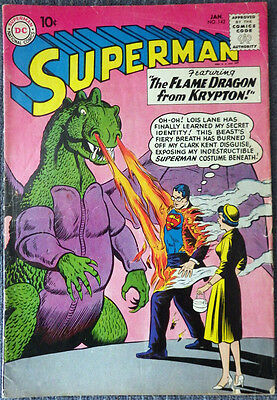 Superman #142 - The Flame Dragon from Krypton! Boring! Schaffenberger!