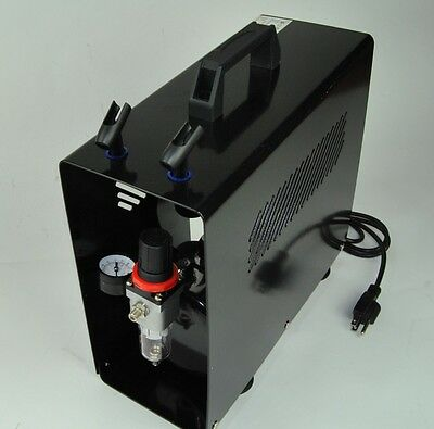 Pro Twin - Cylinder Air Brush Compressor with 3.5 Liter Tank and Metal Case Hose