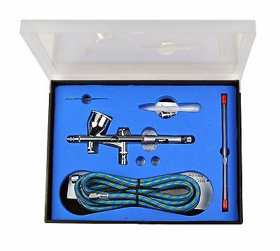 Pro GravityFeed Double Action Airbrush w/ 9 cc Cup and Two Nozzles 0.2 0.3 mm