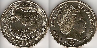 New Zealand $1 One Dollar coin 2013