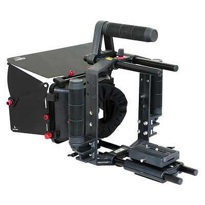 Filmcity Combo Video Camera Cage Support with Matte Box for DSLR DV Camera Lens