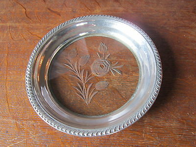 Antique Sterling Silver   tray/ butter dish/ trivet?  Marked with crown over H