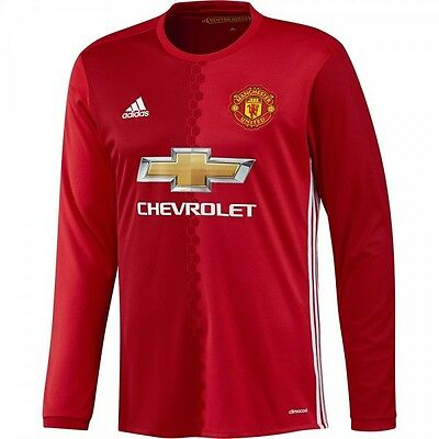 Manchester United Fc Home 16/17 Authentic Long Sleeve Jersey