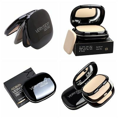 Face Pressed Powder Foundation Dry Wet Nature Make up Compact Palette Contour