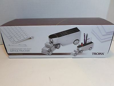 Troika Office Trucker Desk Accessory Paperweight Chrome Plated