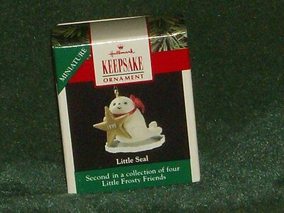 Hallmark 1990 Little Seal - Little Frosty Friends - Miniature Ornament - NEW