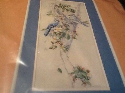 Dimensions From The Heart Crewel Embroidery Kit 51055~ BLUEJAYS AND BLOSSOMS 1/2