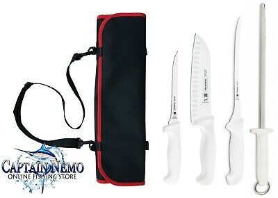 Tramontina 5Pc Professional Fish Filleting Knife Pouch Made In Brazil 38005/602