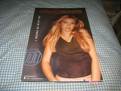 MANDY MOORE-(i wanna be with you)-1 POSTER-11X17-NMINT-RARE