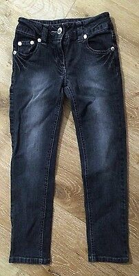 Girls Jeans, Size 7, With Adjustable Waist
