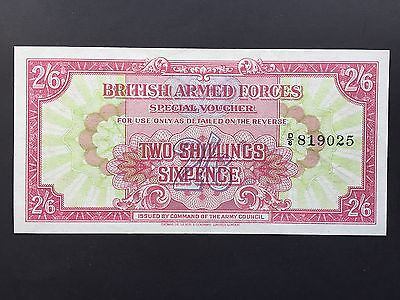 British Armed Forces BAF 2 Shillings 6 Pence 2/6 PM12 1st Series 1946 aUNC UNC