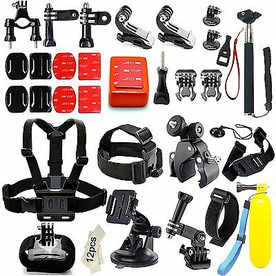 # 45-in-1 GoPro Kit d'accessoires - Fixation frontale + Harnais etc. NEUF
