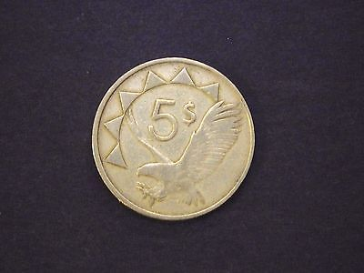 5 $ Dollars Coin 1993 Republic Of Namibia